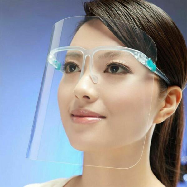 Schutzvisier mit Brillengestell 5er Box
