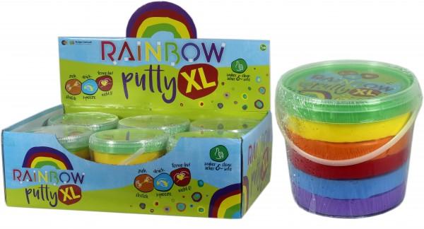 Regenbogen Knete XL